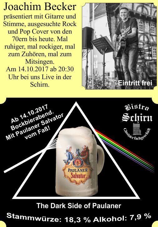 Bockbierabend, Joachim Becker, Bistro Schirn